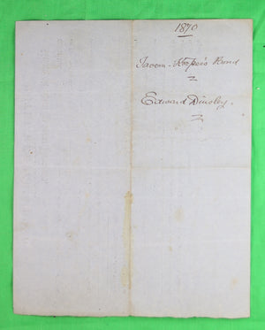 Hotel-Keeper's Bond - Clinton Ont. (1872) #2
