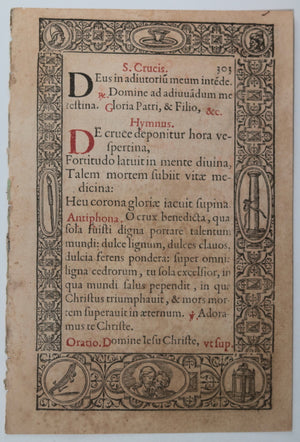 Renaissance page from Plantin's Officii B. Mariae Virginis (1572)