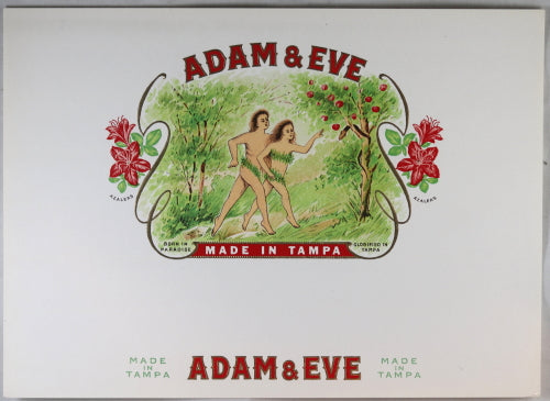 Inner Cigar box label 'Adam & Eve', Tampa ~1930s