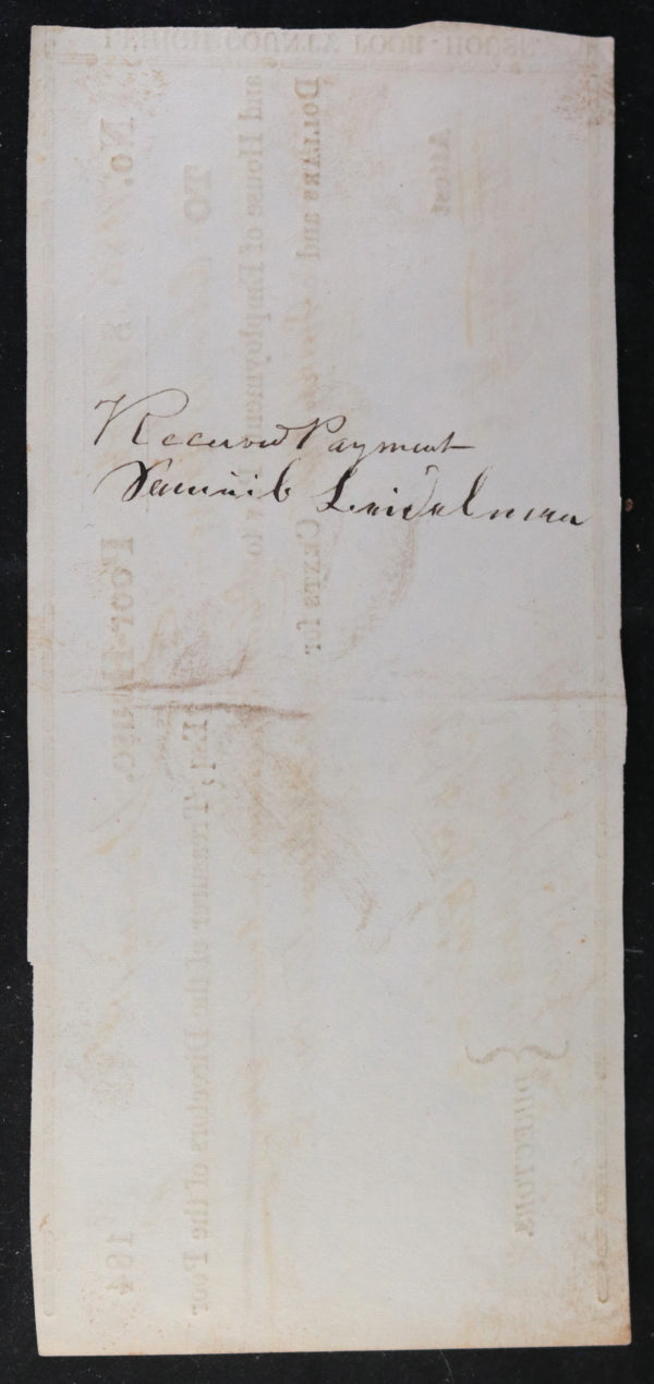 Jan. 1st 1849 Allentown PA Lehigh County Poor-House, blacksmith work