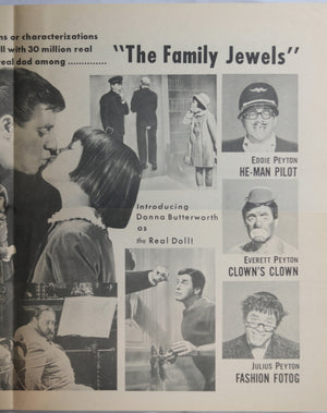 Jerry Lewis movie herald for 'The Family Jewels' (1965)