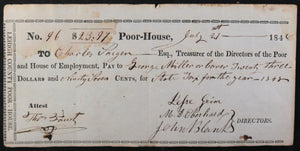July  21st 1848 Allentown PA Lehigh County Poor-House, State Tax 1848