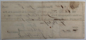June 5th 1848 Allentown PA Lehigh County Poor-House cheque for relief