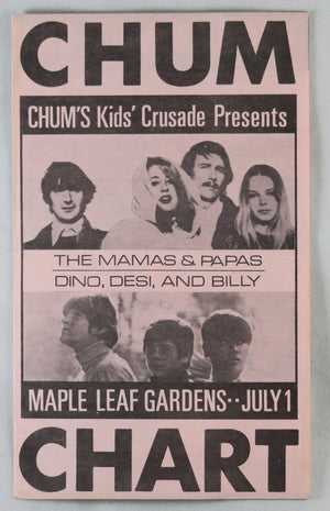 June 1967 Toronto radio station Hit Parade + Monkees fan club