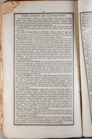 Leavitt's Old Farmer's Almanack - 1858 (USA)