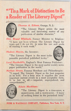 Literary Digest advertising pamphlet (1920s)