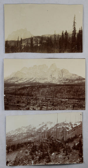 Lot 12 vintage photos CPR railway in British Columbia, early 1900s