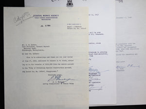Lot of seven (7) documents related to City of Pittsburgh finances 1940-1949