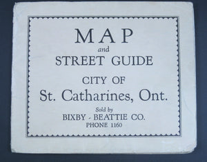 Map and Street Guide City of St Catharines, Ont. (1930-40s)