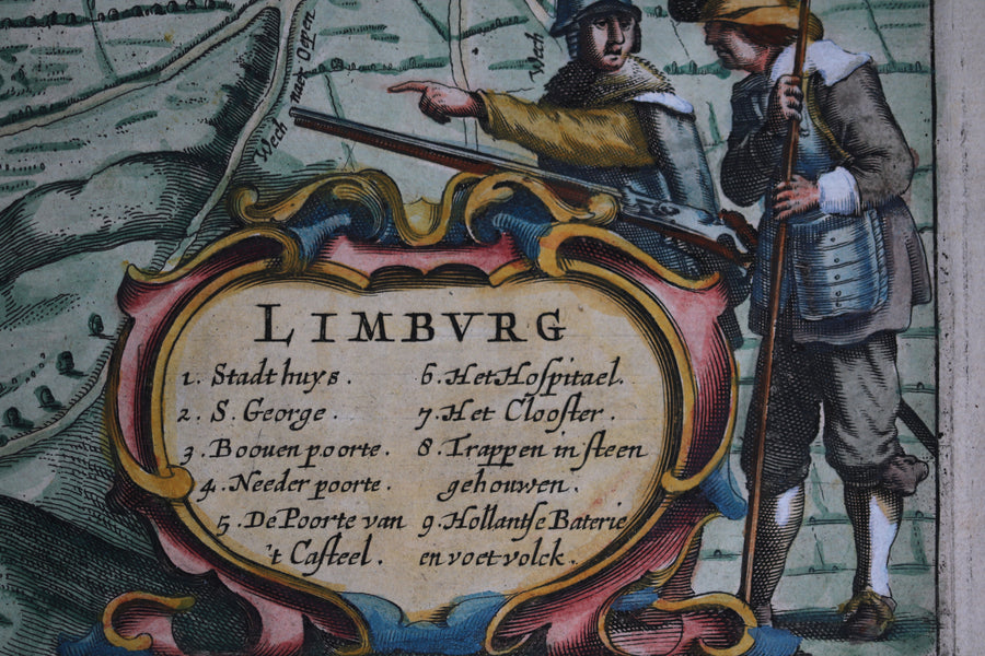Map of Limburg Belgium @1630s