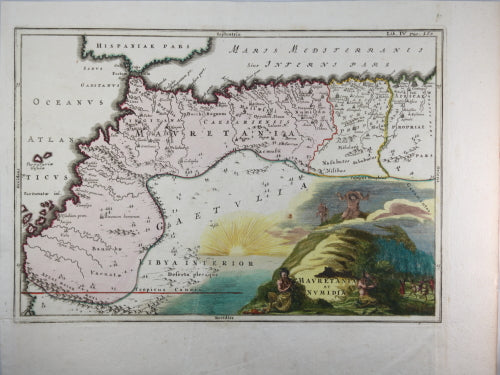 Map of North Western Africa by Cellarius c. 1703