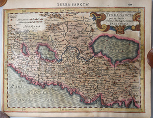 Map of the Holy Land by Mercator/Hondius @1632