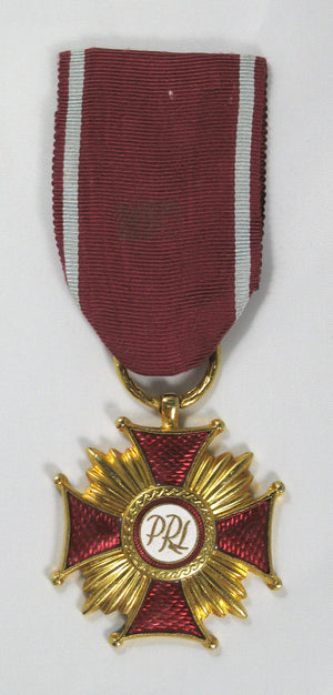 Medal Poland Cross of Merit 'PRL',  1st Class Gold Gilt