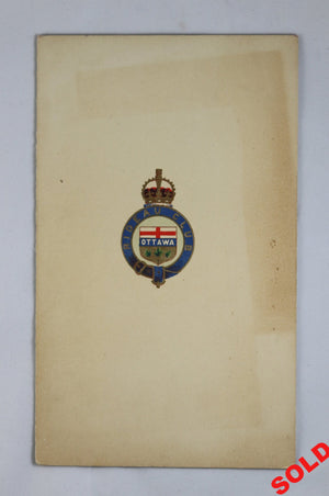 Menu for luncheon held for Japanese Baron Ito - Ottawa 1918 #2