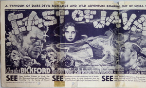 Movie poster for 'East of Java' - 1935