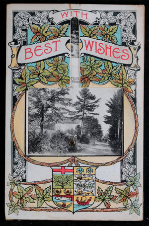 Muskoka Lakes 'fan' postcard with multiple photos c. 1910