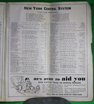 New York Central Railway – System Time Tables 1944