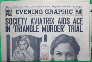 New York scandal paper 'Evening Graphic' July 2, 1932, one of last issues.