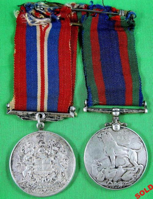 Canadian WW2 medals on ribbon bar
