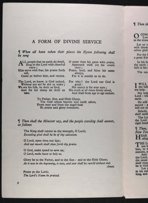Pamphlet 'A Form of Divine Service'  Coronation King George VI 1937