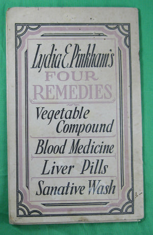 1928 Pamphlet 'Come into the Kitchen' sponsored cooking pamphlet for Lydia Pinkham Medicine Co.