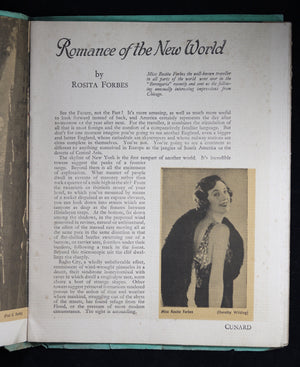 Pamphlet from Cunard Lines 'Romance of the New World' @1930
