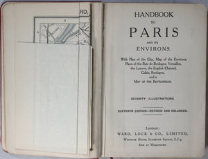 'Paris and Environs' Ward-Lock & Co's 1922 travel guide