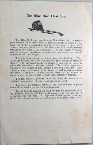 Peerless Dust Guns pamphlet (1920s)