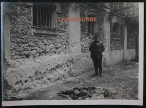 Photo Guerre 14-18 bombardement Paris Caserne pompiers