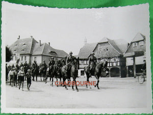 Photo WW2 German cavalry Reichenau Poland August 9th 1940