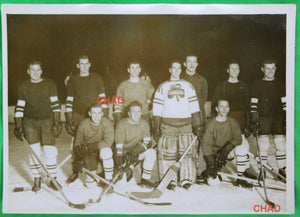 Photo Ottawa Canada Shamrocks hockey team in Paris 1933-34