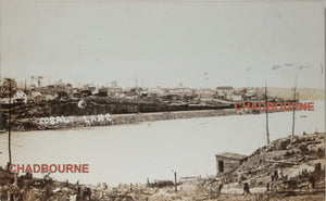 Photo postcard lake in mining town of Cobalt Ontario (Canada) c. 1910