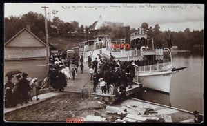 Photo postcard of steamer Dortha, Huntsville Muskoka Lakes Canada 1906