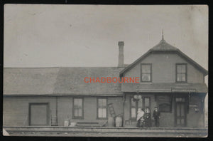 Photo postcard train station at Duck Lake Saskatchewan Canada c. 1910