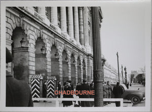 Photo soldats allemands sentinelles Hôtel de la Marine Paris (1940-44)