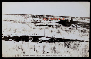 Photo postcard winter view McIntyre Mine Porcupine Ontario c. 1930s