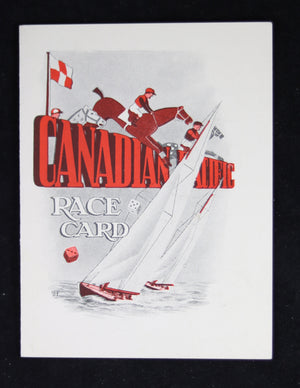 Post-WW2 Canadian Pacific – SS Empress of Scotland 'Race Card'
