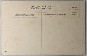 Postcard Canada Old Aboriginal woman CPR @1910