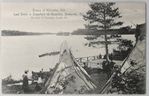 Postcard Canada photo Drama of Hiawatha Desbarats Ont. CPR 1901