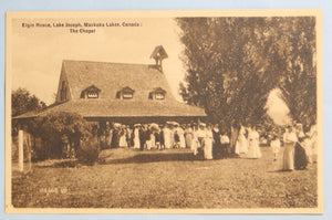 Postcard of the Chapel at Elgin House Muskoka Canada @1910