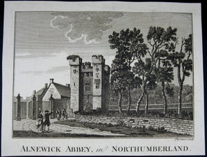 Print 'Alnewick Abbey, in Northumberland'  @1790
