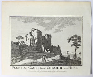 Print 'Beeston Castle – in Cheshire Plate 1' @1790