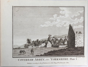 Print 'Coverham Abbey, in Yorkshire, Plate 1'  @1790