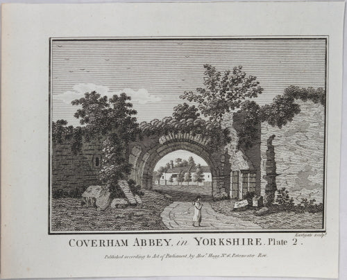 Print 'Coverham Abbey, in Yorkshire, Plate 2'  @1790