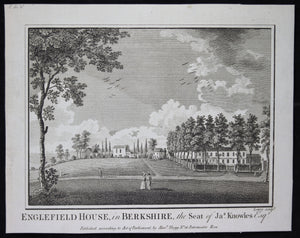 Print 'Englefield House in Berkshire, the seat of Jas Knowles' @1790