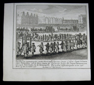 Print Entry of Dutch Ambassador Colyer into Constantinople October 11th 1718 (@1730)