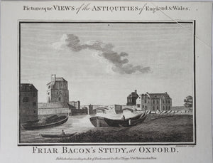 Print 'Friar Bacon's Study, at Oxford'  1786