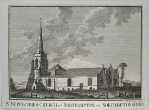 Print 'St. Sepulchre's Church, at Northampton, in Northamptonshire'  @1790