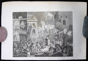 Print 'The Times' after William Hogarth (1796-1806)