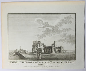 "Print 'Tynemouth Priory & Castle – Northumberland Plate 1"" @1786"